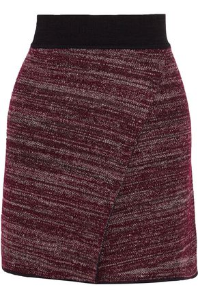 ISABEL MARANT Cashlin wrap-effect stretch-knit mini skirt