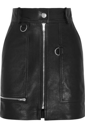 ISABEL MARANT Embellished leather mini skirt