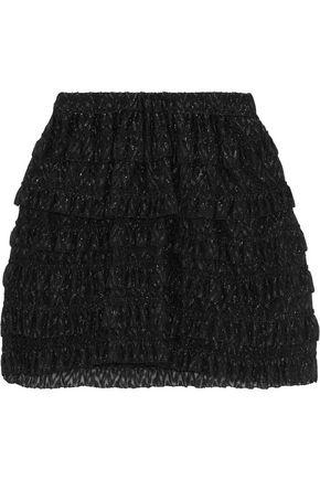 ISABEL MARANT Ruffled metallic fil coupé mini skirt