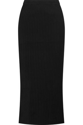MADELEINE THOMPSON Sparti ribbed wool and cashmere-blend midi skirt