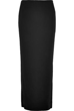 HAIDER ACKERMANN Faille-trimmed crepe pencil midi skirt