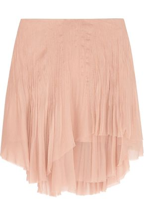 CHLOÉ Layered silk-chiffon mini skirt