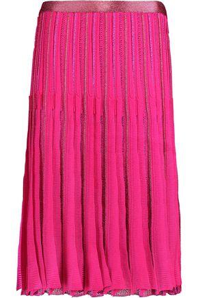 MISSONI Metallic crochet-knit skirt