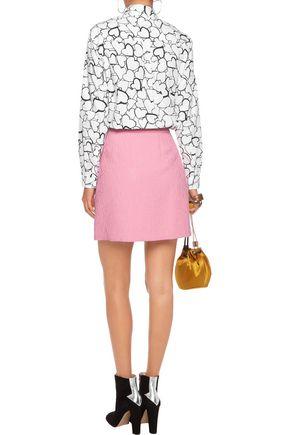 MSGM Cloqué mini skirt