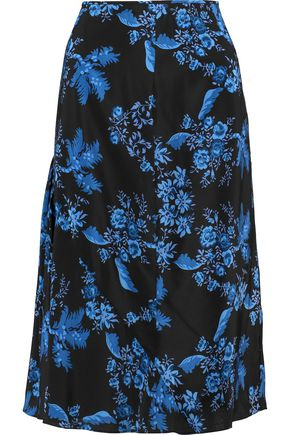 STELLA McCARTNEY Printed silk midi skirt