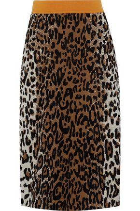 STELLA McCARTNEY Leopard-print jacquard skirt