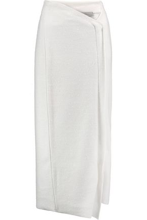 STELLA McCARTNEY Wool-blend bouclé midi skirt