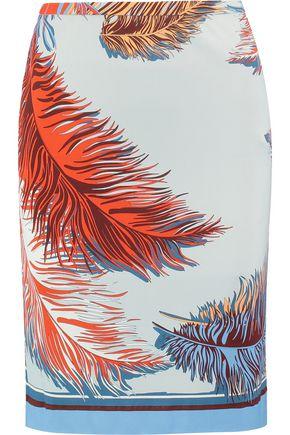 EMILIO PUCCI Printed crepe skirt
