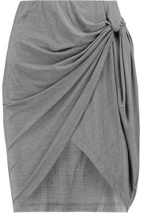 IRO Knotted jersey mini skirt