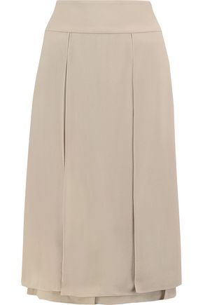 MICHAEL KORS COLLECTION Layered silk-georgette midi skirt