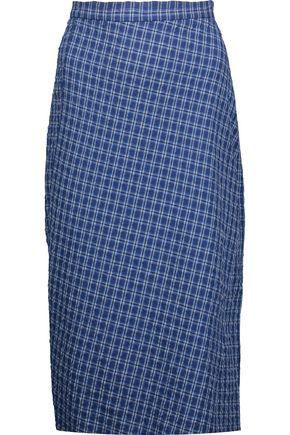 ALTUZARRA Vic checked cotton-blend seersucker skirt