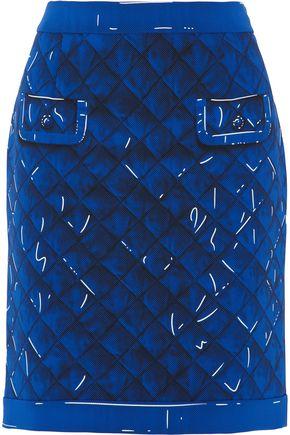 MOSCHINO Printed crepe skirt
