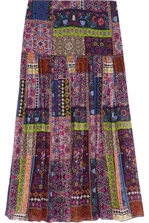 MATTHEW WILLIAMSON Printed silk-chiffon skirt