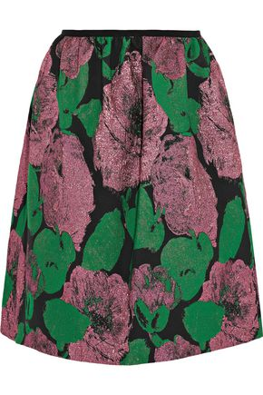 ERDEM Loren Rose metallic jacquard mini skirt