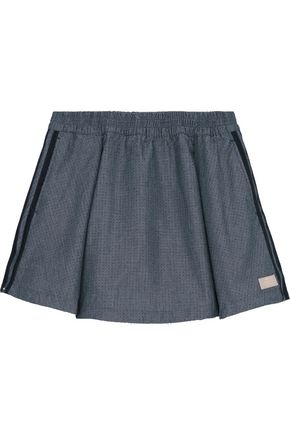 ADIDAS ORIGINALS Perforated chambray mini skirt