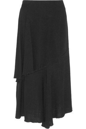 MARNI Asymmetric basketweave canvas midi skirt