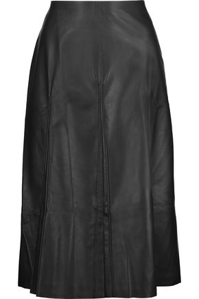 MAISON MARGIELA Pleated leather skirt