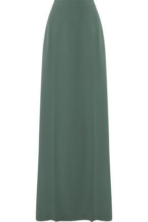CHALAYAN Layered split crepe maxi skirt