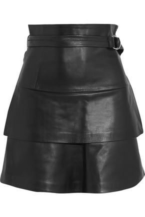 IRO Leather mini skirt