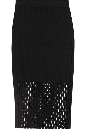 ALEXANDER WANG Perforated knit skirt