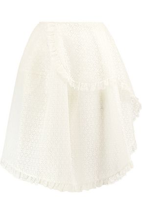 SIMONE ROCHA Asymmetric wrap-effect lace skirt