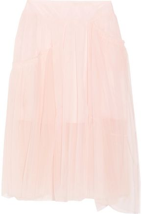 SIMONE ROCHA Asymmetric gathered tulle midi skirt