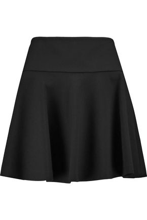REDValentino Flared stretch-knit mini skirt