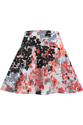 REDValentino Printed shell mini skirt