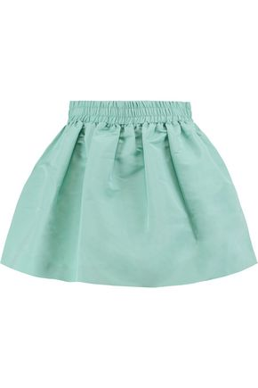 REDValentino Gathered satin mini skirt