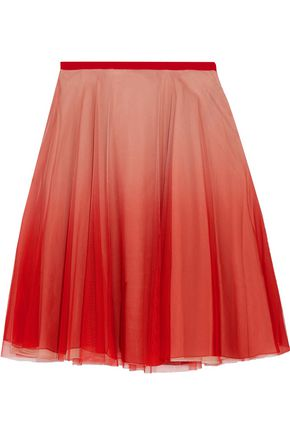 REDValentino Dégradé tulle mini skirt
