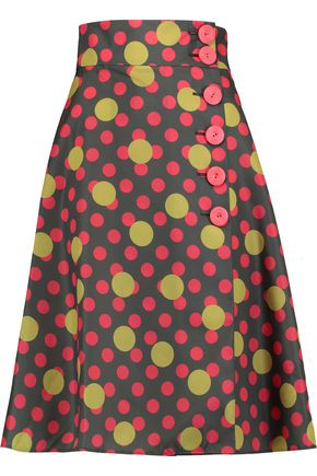 REDValentino Polka-dot shell skirt