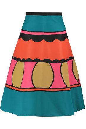 REDValentino Printed twill skirt