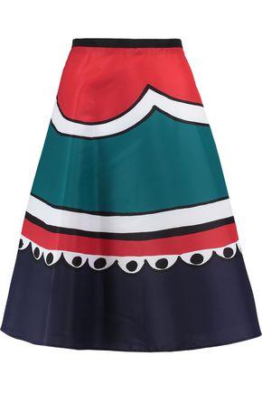 REDValentino Printed satin-crepe skirt