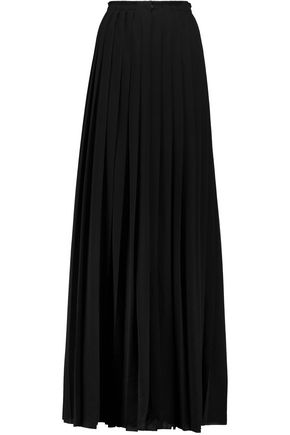 LANVIN Pleated stretch-crepe maxi skirt