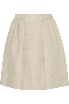 CARVEN Linen mini skirt