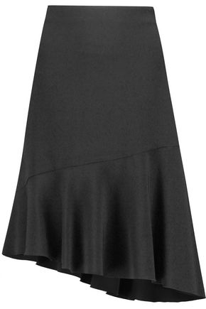 JOSEPH Asymmetric fluted stretch-jersey skirt