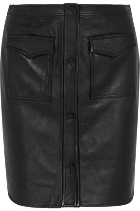 OPENING CEREMONY Leather mini skirt