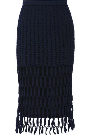 ROSETTA GETTY Crocheted cotton-blend skirt