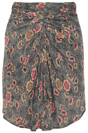 ISABEL MARANT ÉTOILE Sevan floral-print crepe de chine skirt