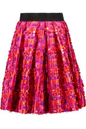 DOLCE & GABBANA Fil coupé satin-twill skirt