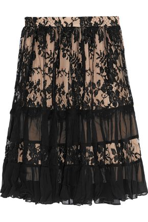 ZIMMERMANN Karmic cotton-blend and lace skirt