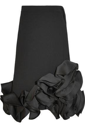 VICTORIA, VICTORIA BECKHAM Ruffled duchesse-satin and crepe skirt