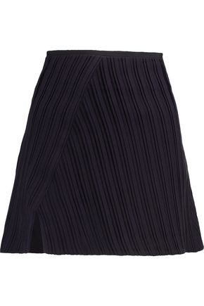 VICTORIA, VICTORIA BECKHAM Plissé-crepe mini skirt