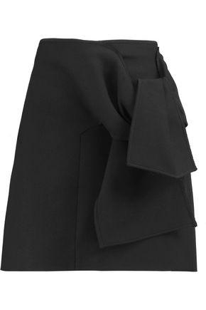 VICTORIA, VICTORIA BECKHAM Tie-front crepe mini skirt