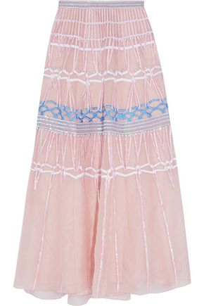 TEMPERLEY LONDON Shine embellished silk maxi skirt