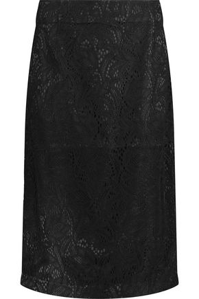 IRIS AND INK Margot corded lace midi skirt
