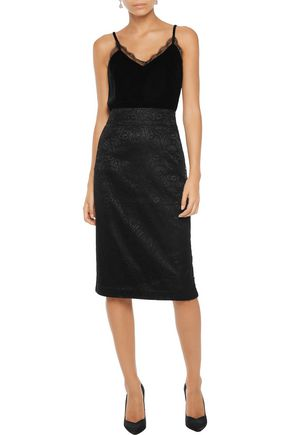 ... IRIS & INK Margot corded lace midi skirt ...