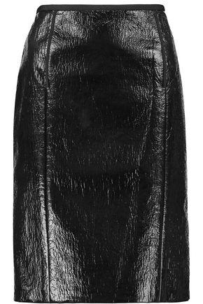 LANVIN Coated cotton-blend skirt