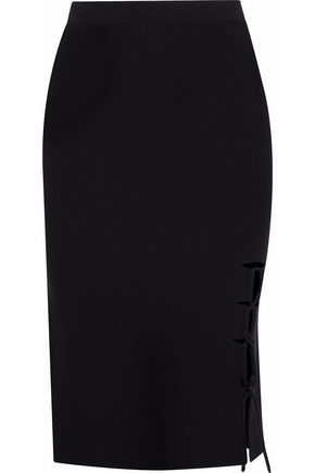 ALEXANDER WANG Cutout lace-up stretch-knit pencil skirt