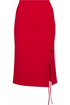 ALEXANDER WANG Lace-up stretch-knit skirt